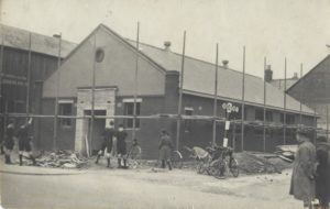 Edith Lyle Hall Being Built in 1935